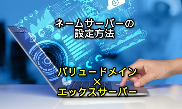 ネームサーバーの設定方法(バリュードメイン×エックスサーバー)