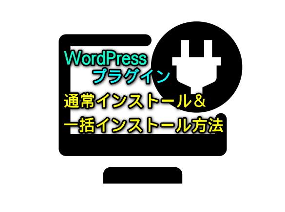 WordPressプラグインインストール方法9