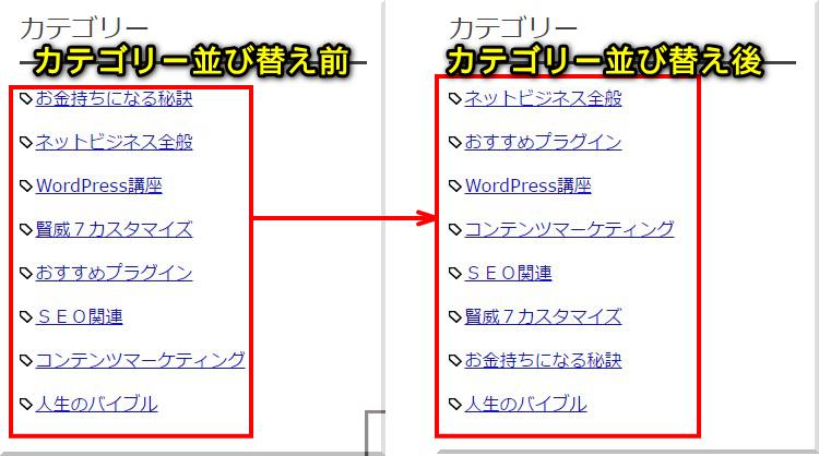 カテゴリーの順番をWordPressプラグインで並び替える方法4