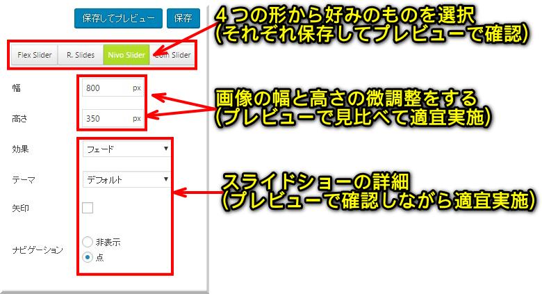 賢威7でスライドショーを簡単に設置する方法10